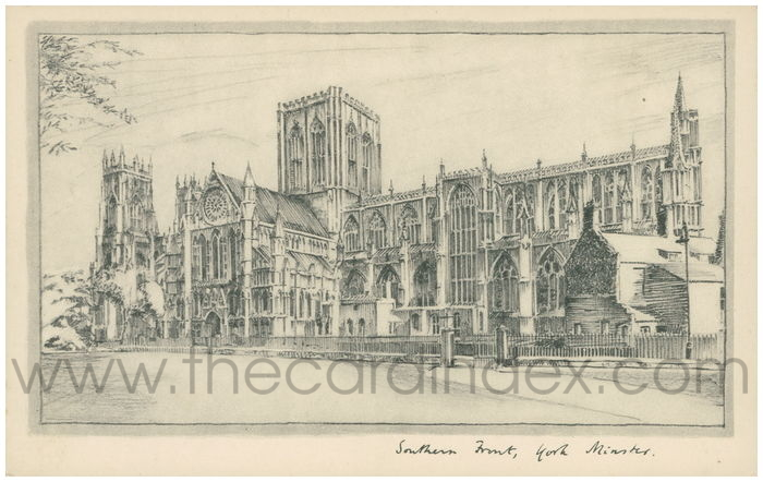 Postcard front: Southern Front, York Minster