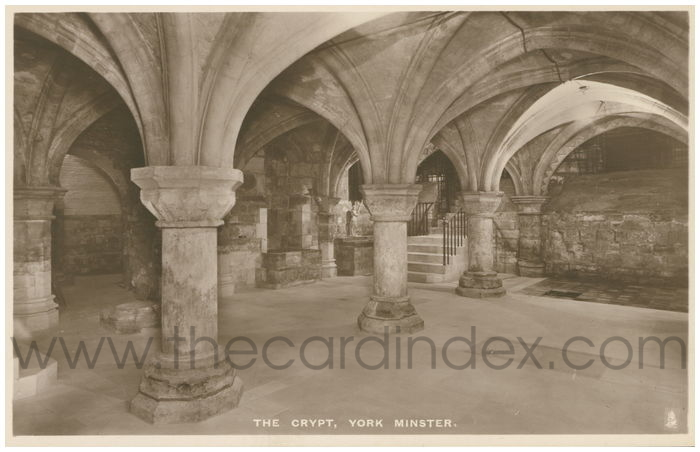Postcard front: The Crypt, York Minster