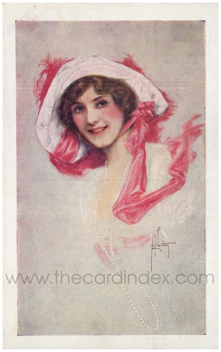 Postcard front: Mr Robert Courtneidge's Production 'The Pearl Girl'