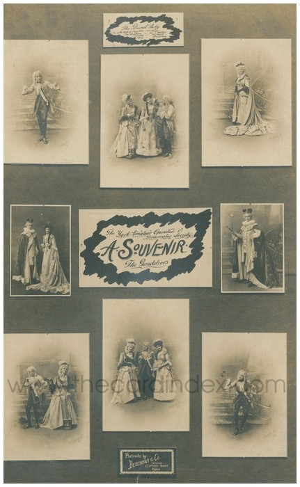 Postcard front: The York Amateur Operatic & Dramatic Society A. Souvenir. The Gondoliers