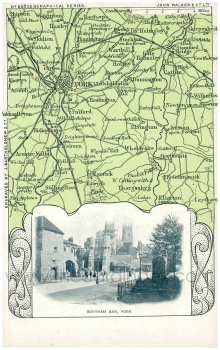 Postcard front: Bootham Bar, York