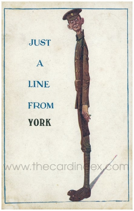 Postcard front: Just a line from York