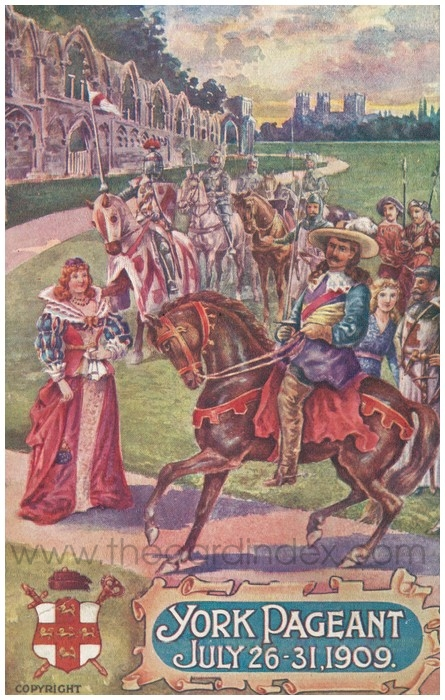 Postcard front: York Pageant July 26-31.1909