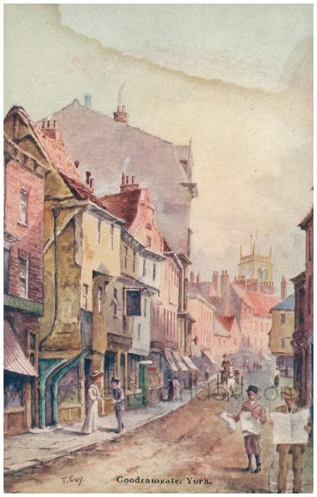 Postcard front: Goodramgate, York