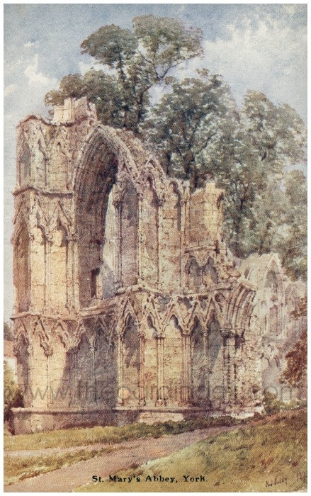 Postcard front: St. Mary's Abbey, York