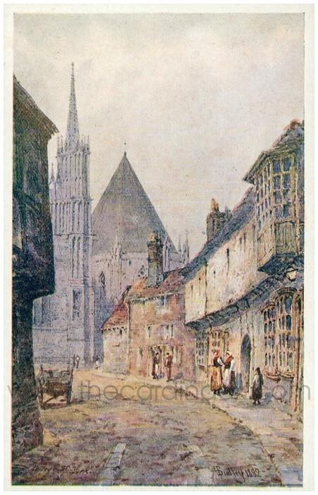 Postcard front: College St. York