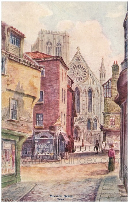 Postcard front: Minster Gastes York