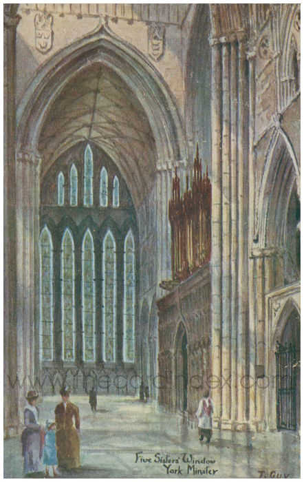 Postcard front: Five Sisters' Window York Minster