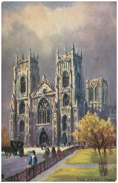 Postcard front: The Abbey York