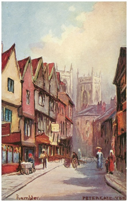Postcard front: Petergate York