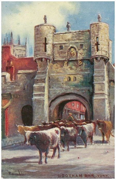 Postcard front: Bootham Bar York