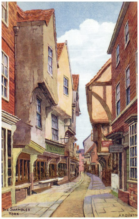 Postcard front: The Shambles York