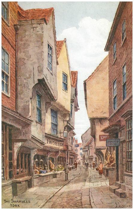 Postcard front: The Shambles. York