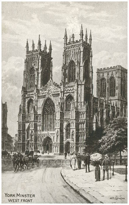 Postcard front: York Minster West Front