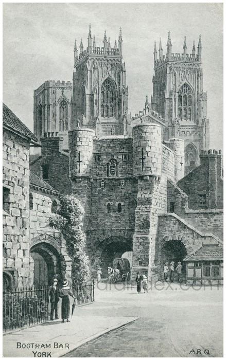Postcard front: Bootham Bar York