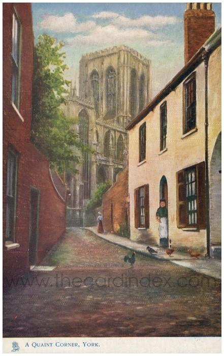 Postcard front: A Quaint Corner, York