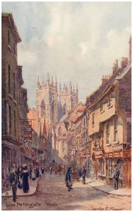 Postcard front: Low Petergate, York