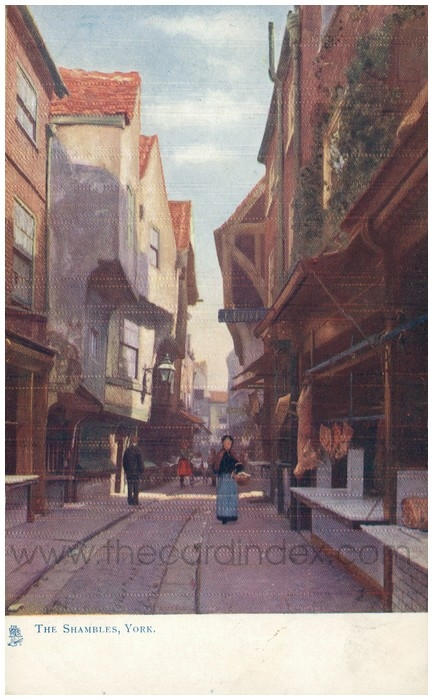 Postcard front: The Shambles, York.
