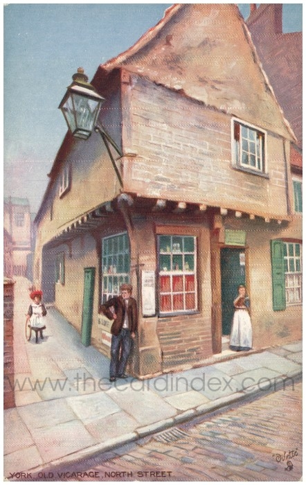 Postcard front: York. Old Vicarage. North Street