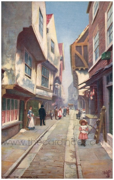 Postcard front: York. The Shambles