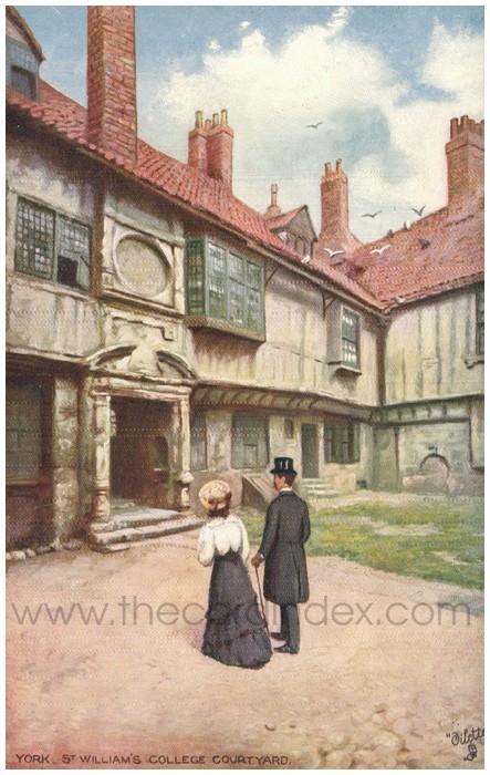 Postcard front: York. St. William's College Courtyard