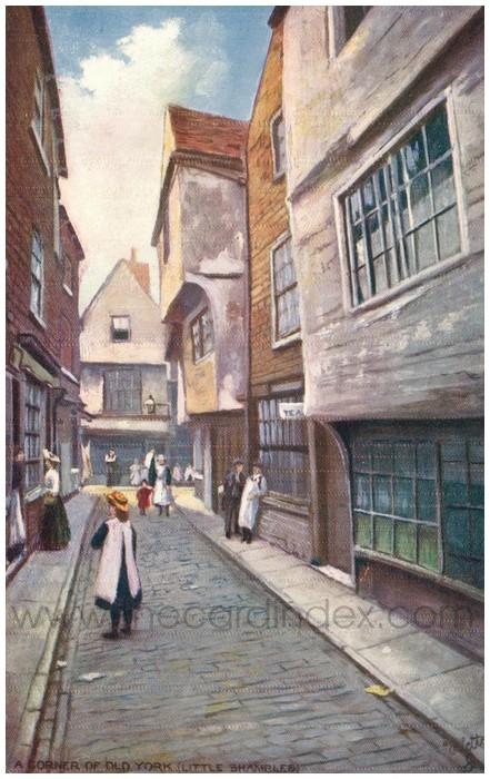 Postcard front: A Corner of Old York (Little Shambles)