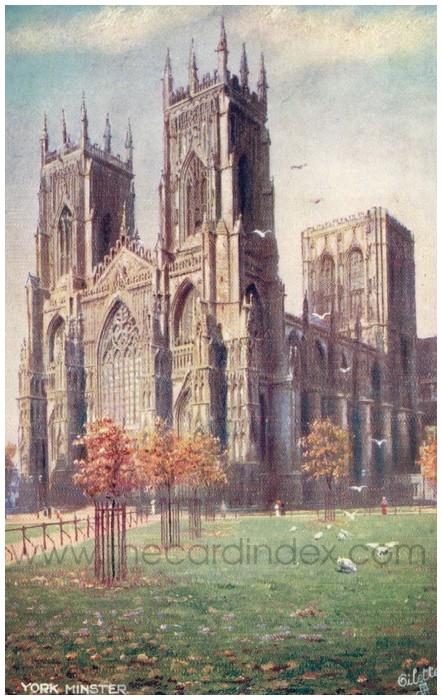 Postcard front: York Minster
