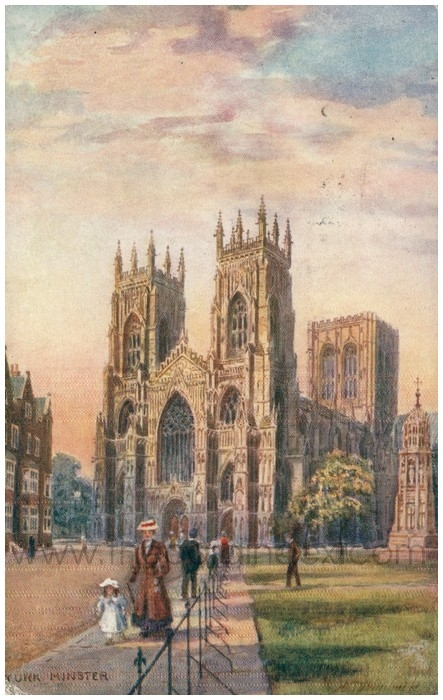 Postcard front: York Minster