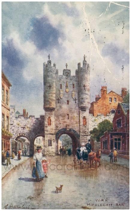 Postcard front: York Micklegate Bar