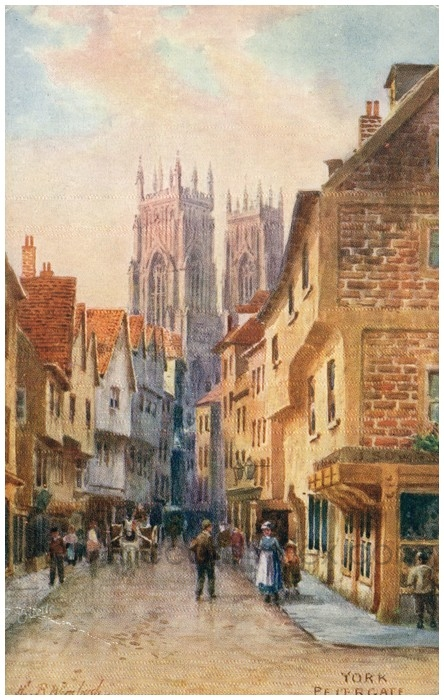 Postcard front: York Petergate