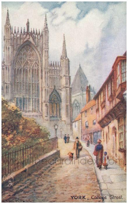 Postcard front: York, College Street