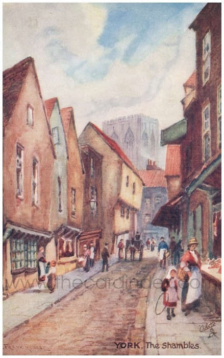 Postcard front: York, The Shambles