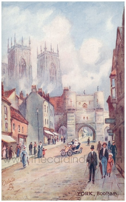 Postcard front: York, Bootham
