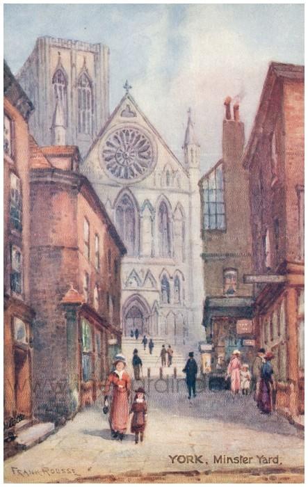 Postcard front: York, Minster Yard