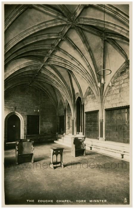 Postcard front: The Zouche Chapel, York Minster