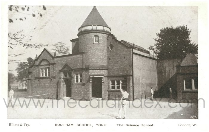 Postcard front: Bootham School York The Science School