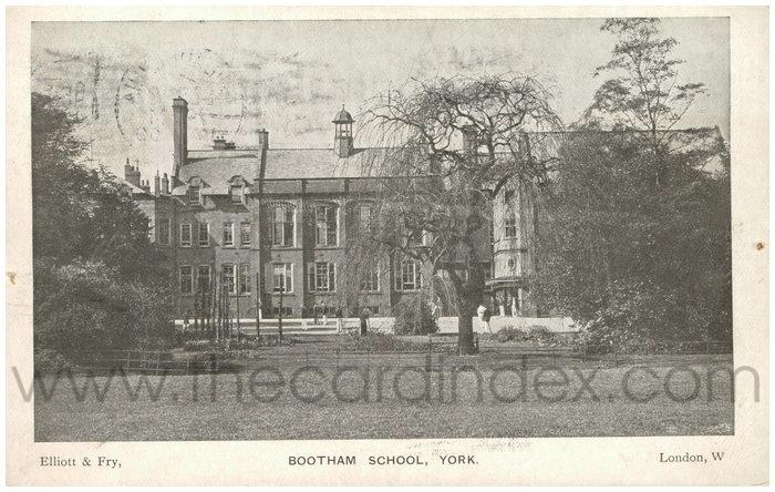 Postcard front: Bootham School, York