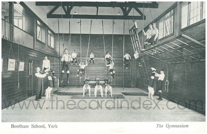 Postcard front: Bootham School, York The Gymnasium