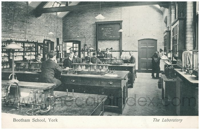 Postcard front: Bootham School, York  The Laboratory