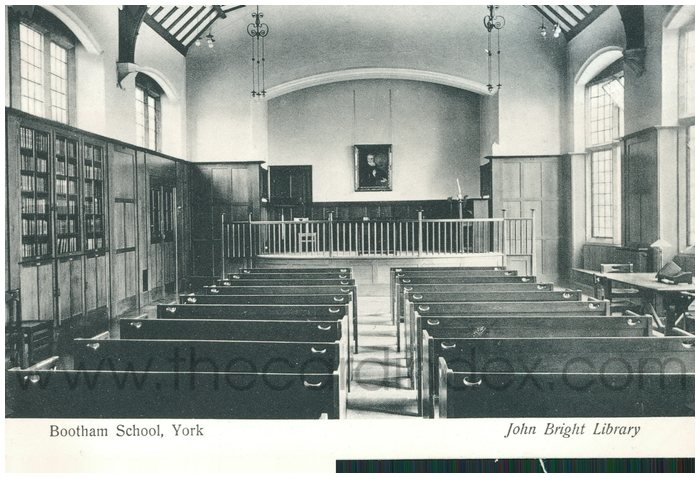 Postcard front: Bootham School, York  John Bright Library