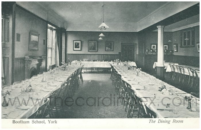 Postcard front: Bootham School, York  The Dining Room