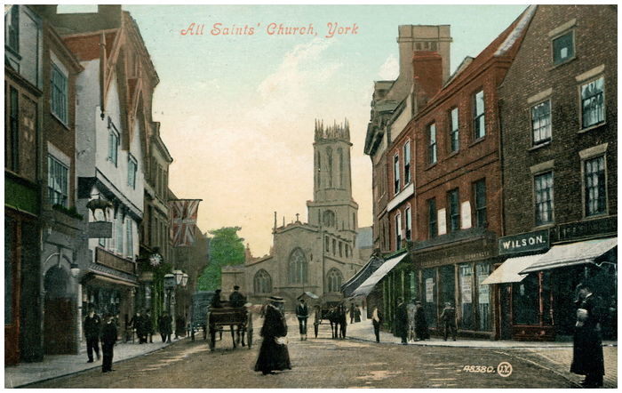 Postcard front: All Saints' Church, York