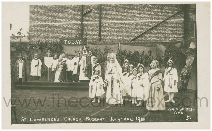 Postcard front: St Lawrence's Church Pageant July - Aug 1913