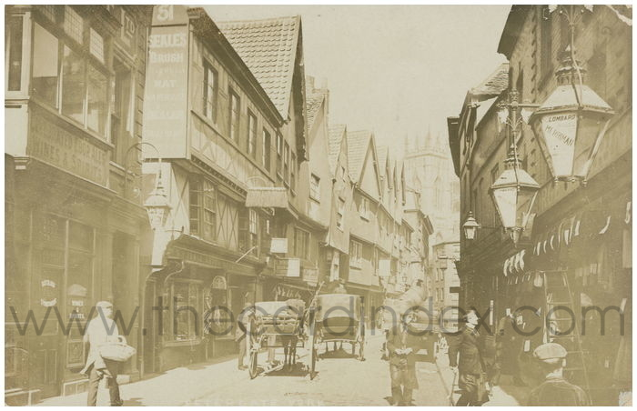 Postcard front: Petergate York