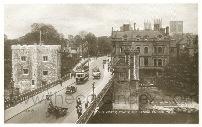 Postcard front: Old Water Tower and Lendal Bridge, York
