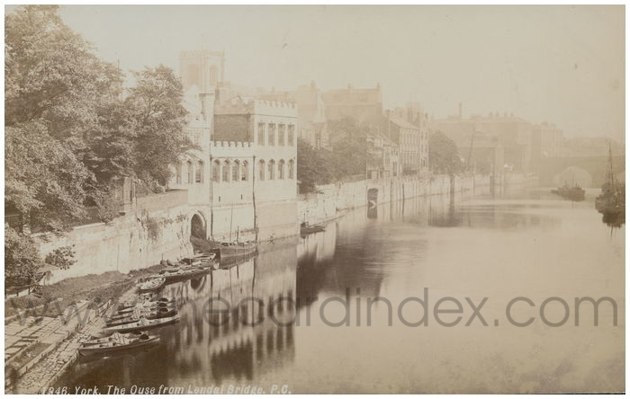 Postcard front: York. The Ouse from Lendal Bridge P.C.