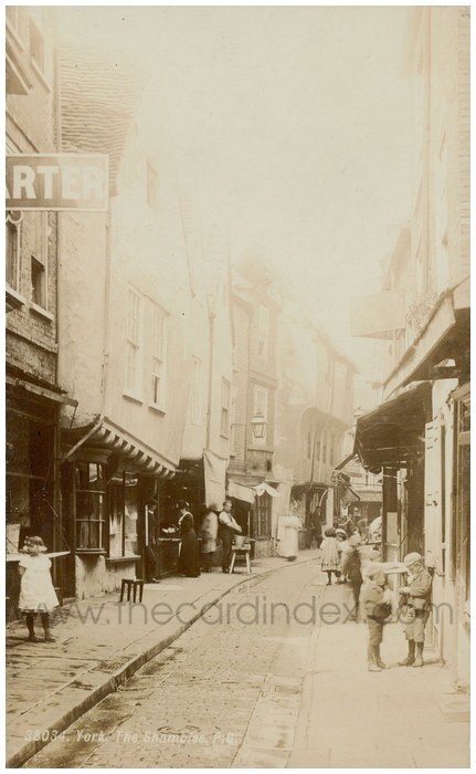 Postcard front: York, The Shambles P.C.