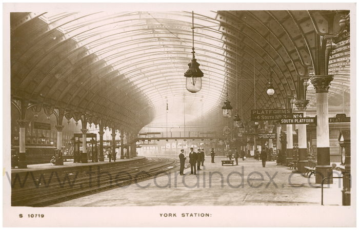 Postcard front: York Station
