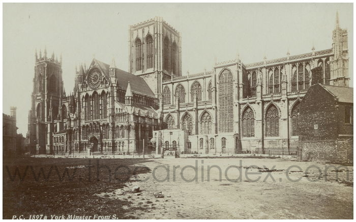 Postcard front: York Minster From S.