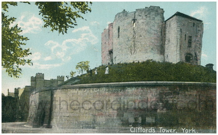 Postcard front: Clifford's Tower, York